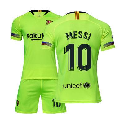 巴萨球衣181920梅西10号足球服套装男成人儿童比赛训练服定制印号