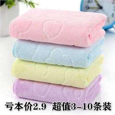 毛巾家用成人男女洗脸柔软超强吸收儿童洗脸巾批发3/10条加大