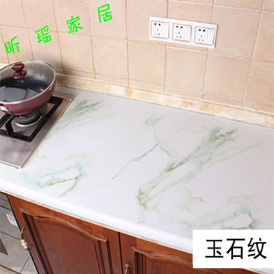 大理石厨房灶台桌面橱柜贴纸壁纸浴室防水防油墙纸自粘家具翻新贴