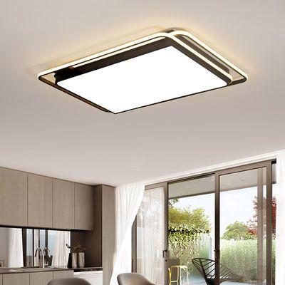 2019年新款长方形客厅灯北欧创意灯具卧室灯LED吸顶灯全屋套餐灯