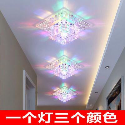 水晶过道灯led走廊灯玄关灯入户灯客厅筒灯吊顶射灯创意小吸顶灯