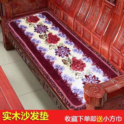 加厚实木沙发垫123组合防滑保暖老式红木坐垫春秋长椅垫124三件套