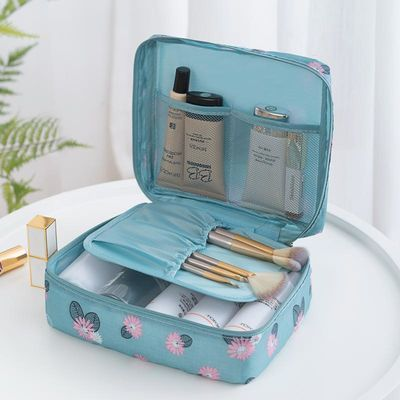 化妆包小号便携韩国简约大容量多功能旅行收纳袋随身少女心洗漱包