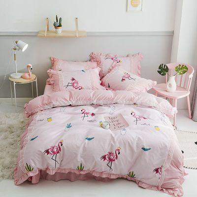ins韩版公主风床裙床罩四件套床上用品1.2/1.5/2.0m床亲肤4三件套