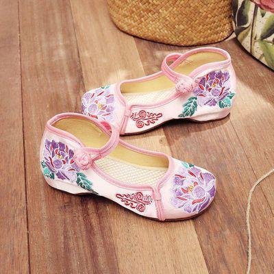 【正宗老北京布鞋18新款儿童绣花鞋】女童绣花鞋儿童表演出舞蹈鞋