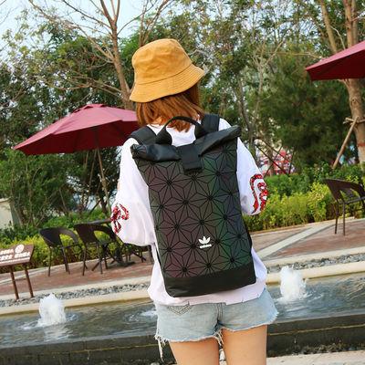 阿迪达斯 adidas 三叶草菱形 3D几何拼接双肩书包背包