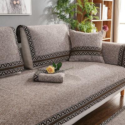 实木沙发垫布艺套罩四季通用沙发垫子全万能套欧式沙发垫冬季毛绒