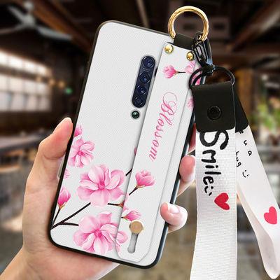 opporeno2手机壳超薄硅胶防摔reno2时尚新款腕带手机套磨砂全包边