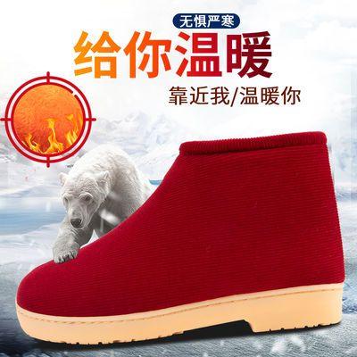 冬季棉拖鞋女手工老式棉鞋男加绒防滑保暖厚月子居家中老年人包跟