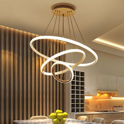 灯具 客厅灯 后现代大气简约卧室灯最新款圆环形饭店吧台餐厅吊灯