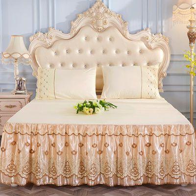 韩版公主床裙床套单件蕾丝床裙三件套1.8m床单床盖床罩床笠防尘罩