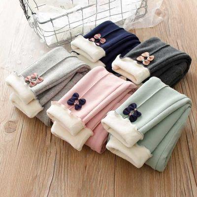 儿童保暖裤秋冬季女童裤子宝宝打底裤内穿男童装三层加绒加厚冬装
