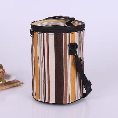 加厚保温饭盒袋便当包圆形方形防水保鲜学生帆布手提袋提锅小拎包【3月6日发完】