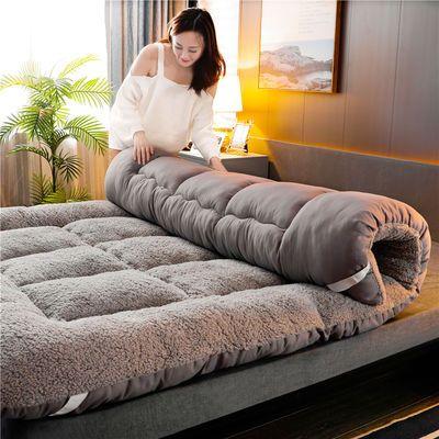 加厚保暖羊羔绒床垫子双人榻榻米床褥学生宿舍垫被防滑可折叠垫子