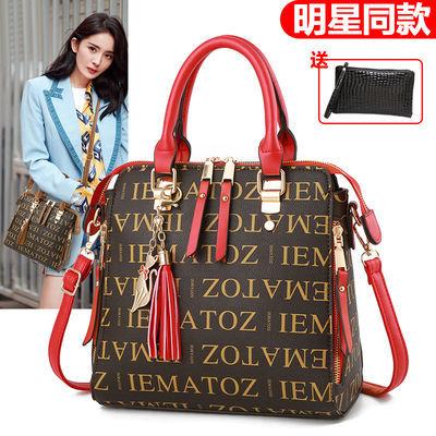 女士小包包2020新款潮韩版百搭单肩斜挎包大气手提包印花时尚女包