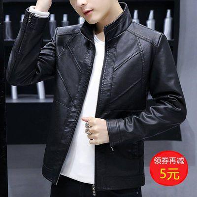 【依诚杰纶】秋季薄款PU皮衣男皮夹克男外套男装韩版潮修身上衣服