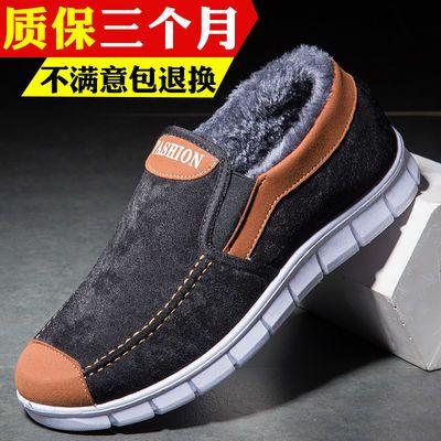 老北京布鞋冬季中老年男士爸爸软底加绒保暖爷爷老人防滑二棉鞋男