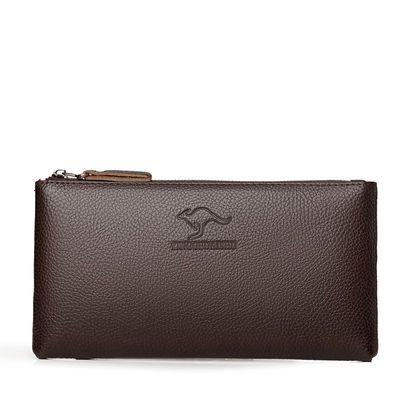 厂家生产直销2019秋季新款真皮质感大容量男士手拿包钱包手机包
