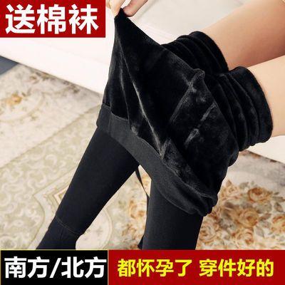 孕妇打底裤加绒加厚冬季外穿高腰托腹一体式秋冬保暖防寒孕妇裤袜