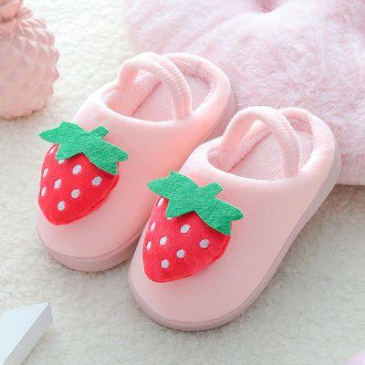 儿童拖鞋女童棉拖鞋秋冬小童男宝宝拖鞋可爱幼儿室内小孩包跟棉鞋