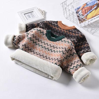 儿童毛衣秋冬新款加绒加厚男女童针织打底衫宝宝婴儿套头外套上衣