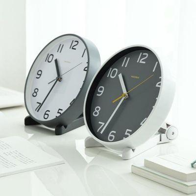 客厅座钟台式钟表摆件欧式创意台钟卧室摆钟静音时钟桌面小挂钟