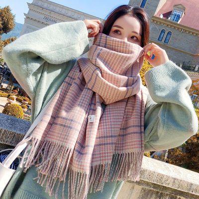 新款围巾女冬款韩版学生仿羊绒披肩男女士加厚保暖百搭冬天季围脖