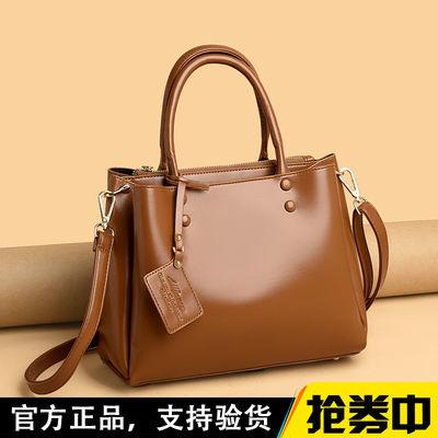 包包女2020新款油蜡真皮质感女包中年女包大容量手提斜挎妈妈包