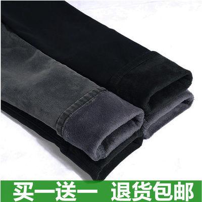 《高品质》冬季高腰加绒加厚牛仔裤女弹力黑色大码棉保暖小脚长裤