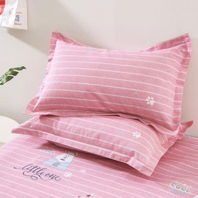 艾丽斯家纺棉质老粗布枕套一只装一对装横向竖向随机指定需备注哦【3月2日发完】