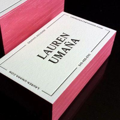 棉纸有色压印名片印刷压凹压痕凹印边缘擦色名片制作烫金压痕名片
