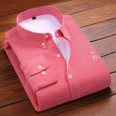 【加绒加厚】冬季牛津纺保暖衬衫加绒加厚时尚休闲男士高档男装
