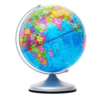 送豪礼高清教学地球仪办公室家居摆件中小学生教学用具五年质保