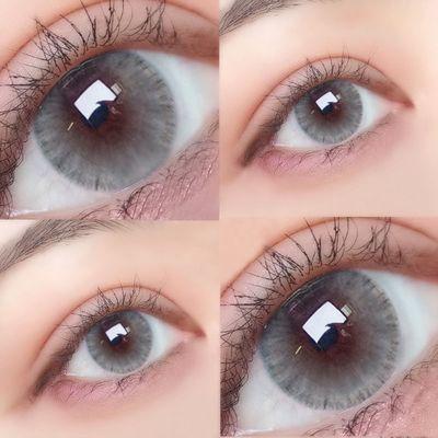 奥德利黑美瞳女年抛网红款大小直径13.8mm自然虹膜蓝色灰色K