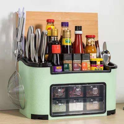 调料盒家用厨房用品收纳盒调味罐调味品盐罐调料瓶罐子置物架套装