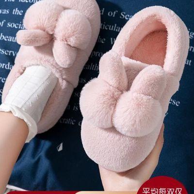 棉拖鞋女冬季家居包跟室内家用产后情侣毛绒月子鞋可爱秋冬棉鞋男