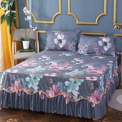 防滑床罩床裙三件套【床裙+枕套】韩版席梦思保护罩床笠床罩