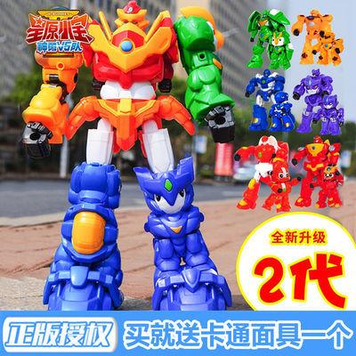 星原小宝2变形合体机器人玩具套装男孩金刚1星元神勇v5星宝战士