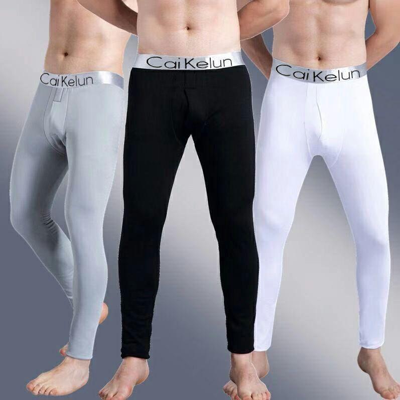 【加绒不加绒可选】男士秋裤学生青少年修身单件保暖裤秋冬季大码