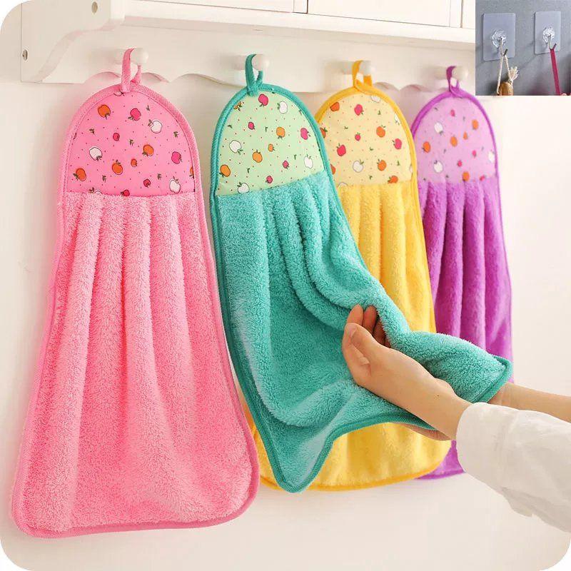 厨房擦手巾挂式超强吸水性好珊瑚绒卫生间加厚擦手布抹布洗碗布
