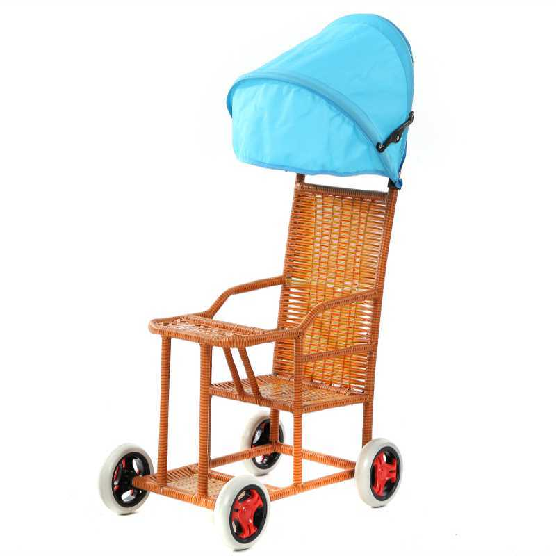 Child car accessories baby hand push umbrella sunshade three-wheel two-child rain-proof hood hoabo hook bag tire god rattan mosquito net