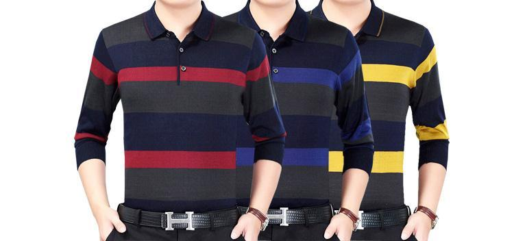 Continental 1 49% Cotton Men's Long Sleeve Polo Shirt Autumn Large