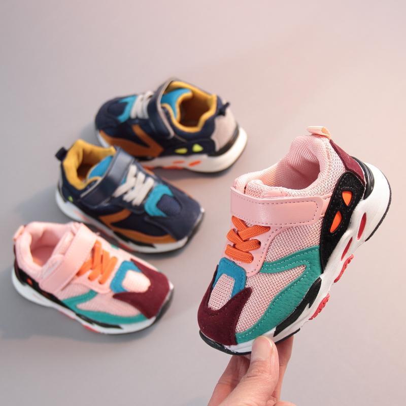 宝宝运动鞋1-3岁男女童春秋季网布透气单鞋2021新款儿童休闲鞋潮