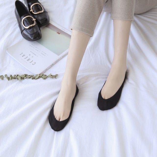 【1/5双装】浅口隐形蕾丝船袜冰丝女士袜子无痕防滑短袜薄款透气