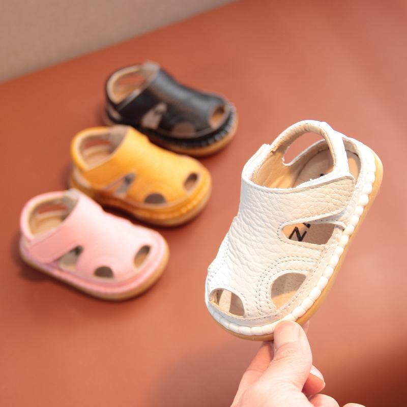 真皮宝宝凉鞋婴儿鞋0-1-2-3岁男女童2021夏季新款软底防滑学步鞋
