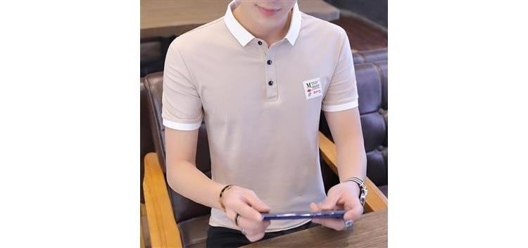Summer New Men's Short Sleeve T-shirt Men's Slim Polo Shirt Trend Korean Youth Men's Half Sleeve Top