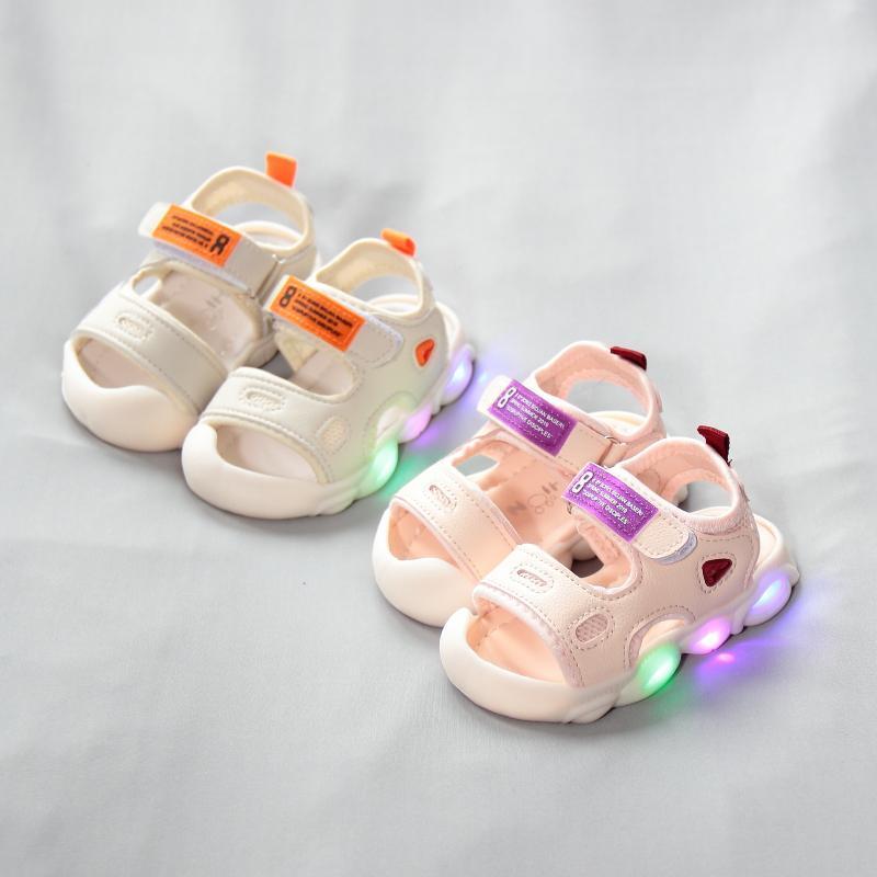 包头宝宝凉鞋0-1岁半男女童夏季婴幼儿软底学步鞋小童运动沙滩鞋2