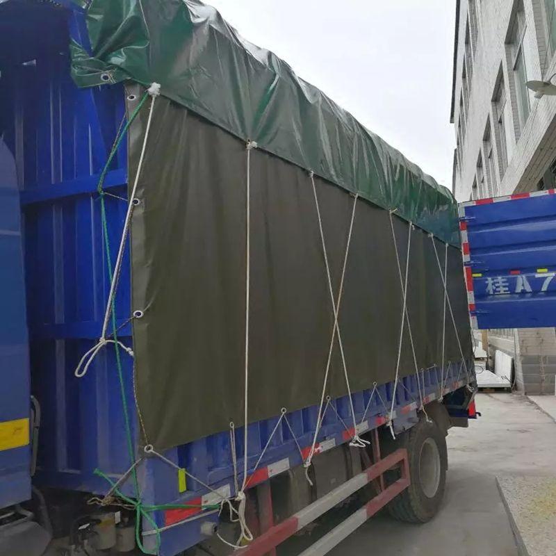 货车篷布帆布半挂车防雨布刀刮布4.2米6.8米9.6米高栏车蓬布苫布