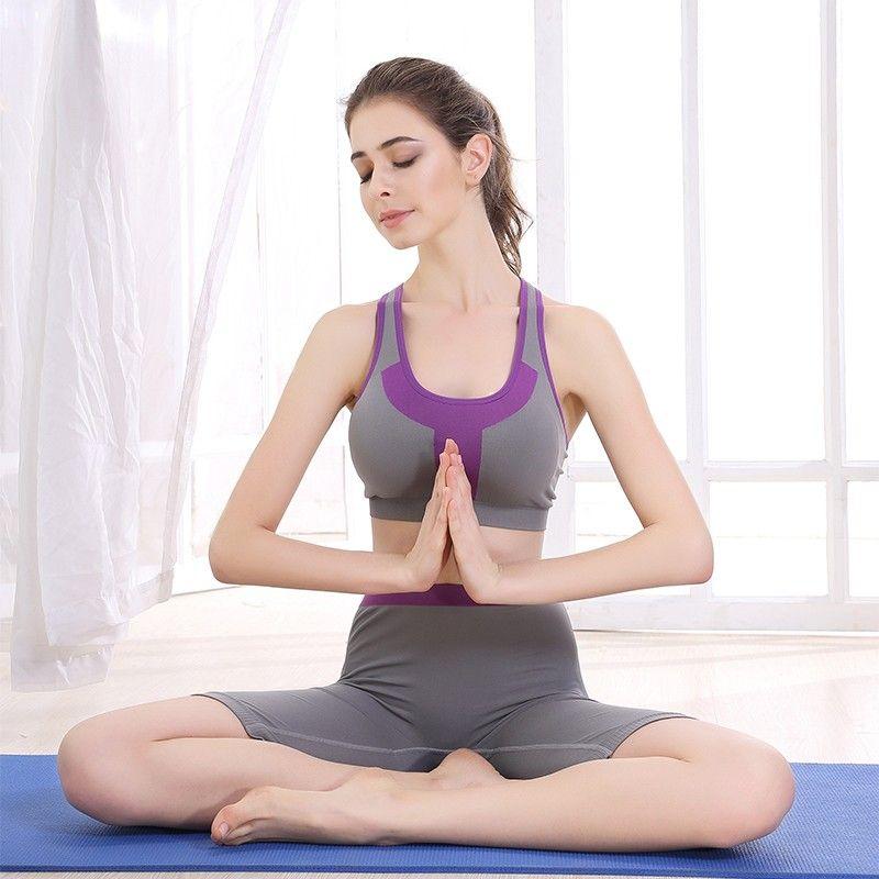 便宜的六月玫瑰旗下品牌奥维丝丽运动瑜伽套装女跑步防震背心内衣套装