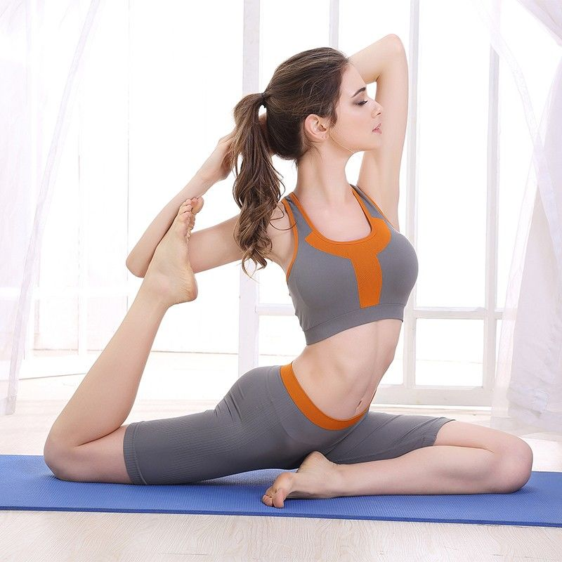 六月玫瑰旗下品牌奥维丝丽运动瑜伽套装女跑步防震背心内衣套装